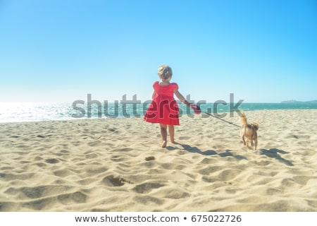 nina · playa · retrato · cute - foto stock © cynoclub