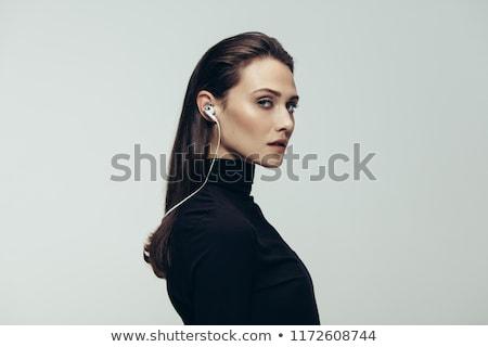 赤 · フェドーラ · 美しい · ブロンド · 女性 · 帽子 - ストックフォト © lisafx