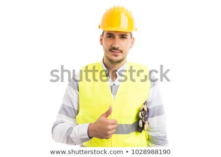 construction · sécurité · travailleur · de · la · construction · signe · outils · équipement · de · sécurité - photo stock © lisafx