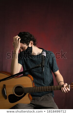 Guitarist In Recovery Stock photo © lisafx