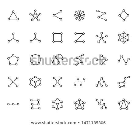 Absztrakt többszörös webes ikon szett üzlet óra Stock fotó © pathakdesigner