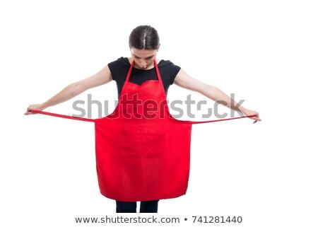 woman wearing a butcher's uniform stock photo © photography33
