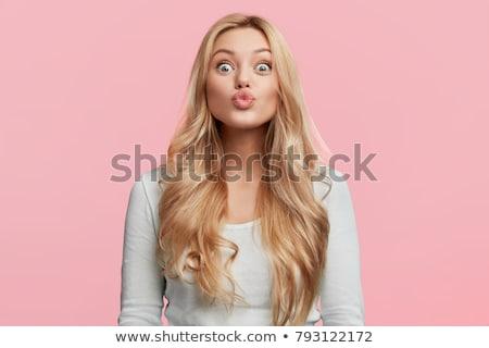 Retrato engraçado jovem mulher moda Foto stock © acidgrey