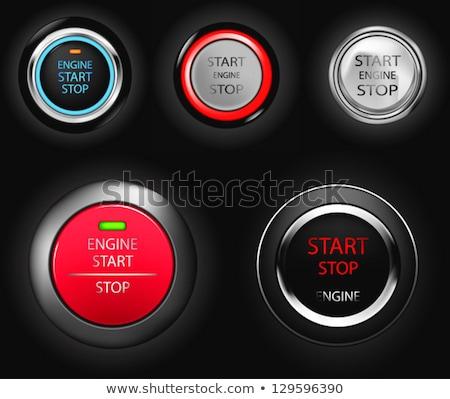 Stock photo: Start engine button