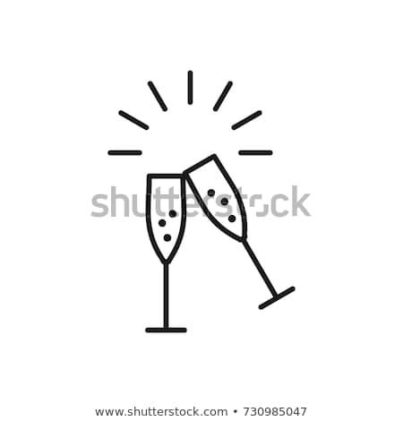 Love sign and  champagne Foto stock © neirfy
