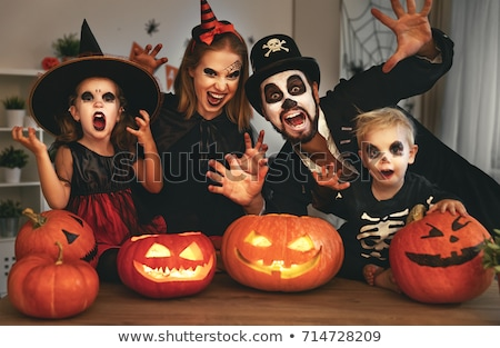 family in halloween costume stock photo © photography33