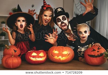 Aile halloween kostüm kadın anne gece Stok fotoğraf © photography33
