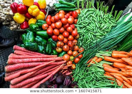 Marchew pięć dzień warzyw odizolowany Zdjęcia stock © david010167