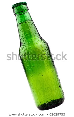 Green bottle of beer. Isolated on white background. Completely r Stock photo © moses