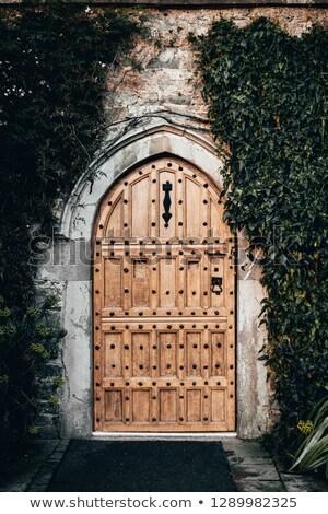 двери портал древних европейский древесины металл Сток-фото © MojoJojoFoto