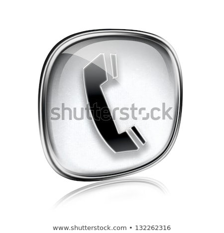 information icon grey glass, isolated on white background Stock photo © zeffss