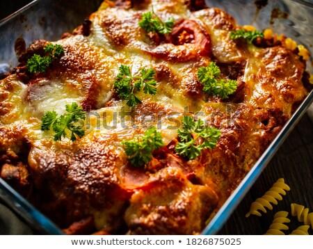 Noodle casserole Stock photo © elxeneize