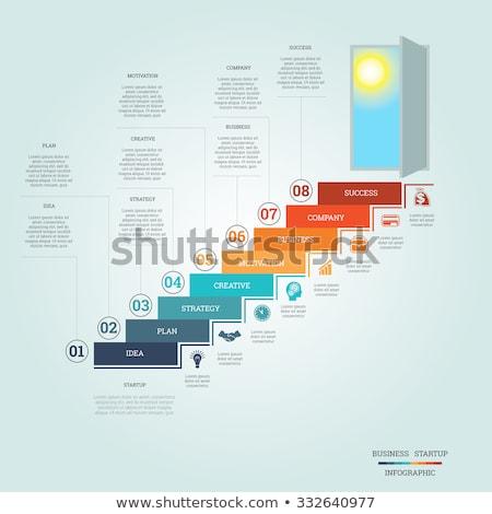 trappenhuis · grafiek · afbeelding · business · glas · kunst - stockfoto © cteconsulting