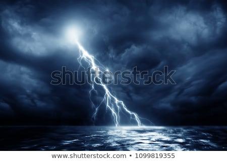 Fırtına deniz su ahşap mavi gündoğumu Stok fotoğraf © mike_expert