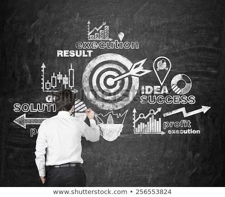 strategy, execution, success in arrows Stock photo © marinini