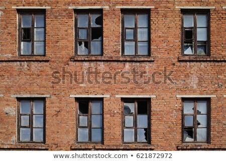 broken windows rusty frame stock photo © sirylok