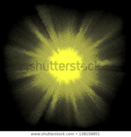 Yellow halftone blast. EPS 8 Stock photo © beholdereye
