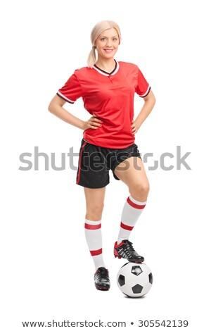 Asia · futbolista · formación · patear · balón · de · fútbol · hombre - foto stock © tab62