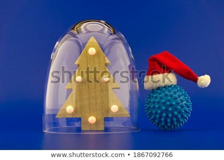 Albero cupola sedia vetro illustrazione 3d cielo Foto d'archivio © drizzd