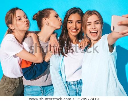 Quattro modelli insieme femminile Foto d'archivio © konradbak