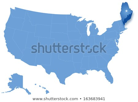 Map of States of the United States where Maine is pulled out Stock photo © Istanbul2009