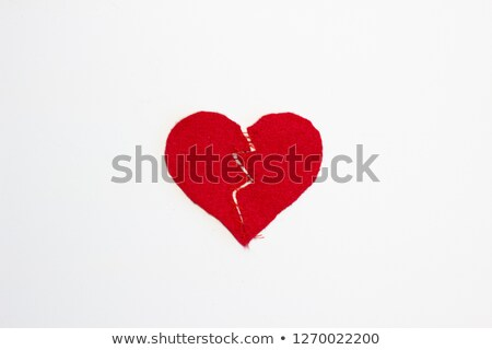 broken heart stitched together stock photo © grafvision