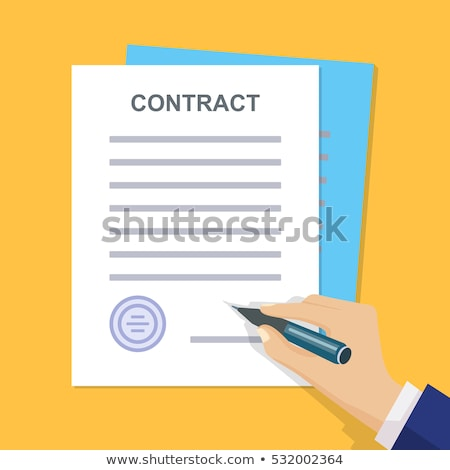 Businessman offering pencil for contract signing Stock photo © stevanovicigor