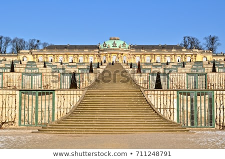 Stairway of The Sanssouci Palace in winter. Potsdam, Germany Stock photo © artjazz