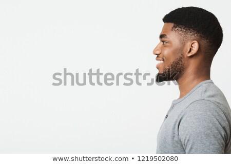 Widok z boku profil portret uśmiechnięty przystojny Zdjęcia stock © ichiosea