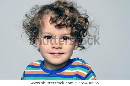 かわいい 少年 孤立した 白 子供 顔 ストックフォト © bloodua