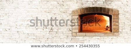 pizza baked in a traditional oven stock photo © donvanstaden
