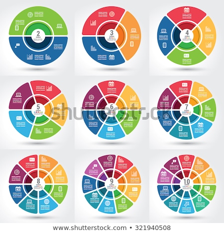 Vector abstract circles infographic template with phones Stock photo © orson