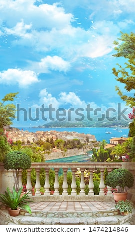 ancient arched wall Stock photo © OleksandrO