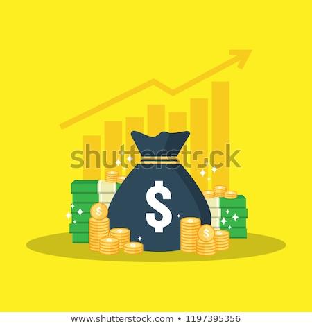 elnöki · dollár · érme · vágási · körvonal · pénz · fém - stock fotó © idesign
