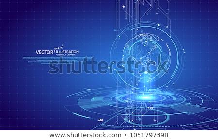 Eletrônico terra abstrato imagem planeta preto Foto stock © kimmit