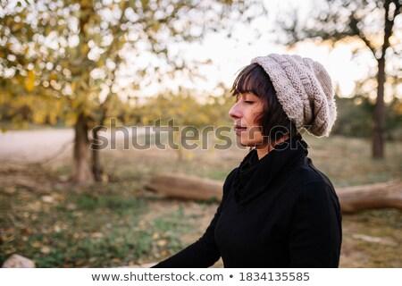 Bench for meditation Stock photo © vavlt