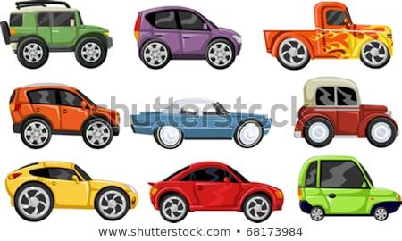 vektor · klasszikus · sport · versenyzés · autók · sebesség - stock fotó © voysla