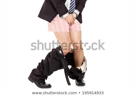 Man pants beneden geïsoleerd witte Stockfoto © gemenacom