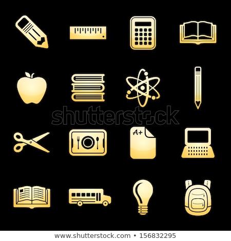 Scissor Gold Vector Icon Button Stock photo © rizwanali3d
