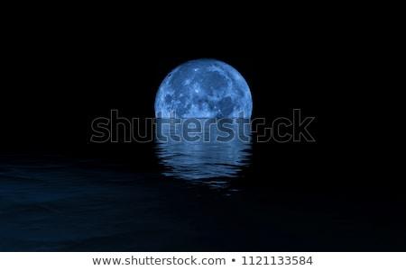 Night over ocean - 3D render Stock photo © Elenarts