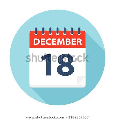 December naptár oldal papír spirál időbeosztás Stock fotó © stevanovicigor