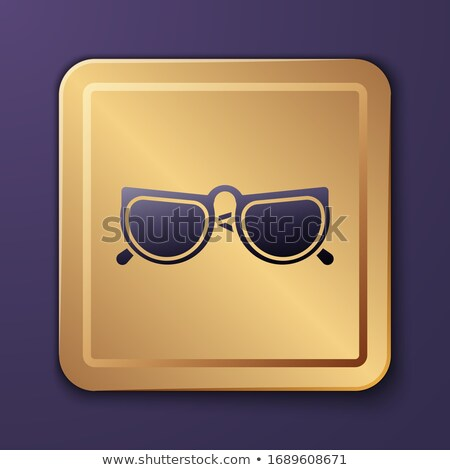 Spectacle Purple Vector Icon Button Stock photo © rizwanali3d