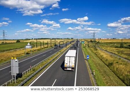 Polish A4 Motorway Near Gliwice Foto stock © pixelman