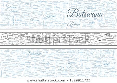 Botswana chmura słowo działalności świat Afryki Chmura Zdjęcia stock © tang90246