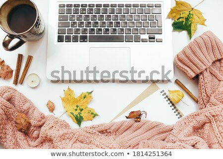 Stock photo: Desk in home office - October