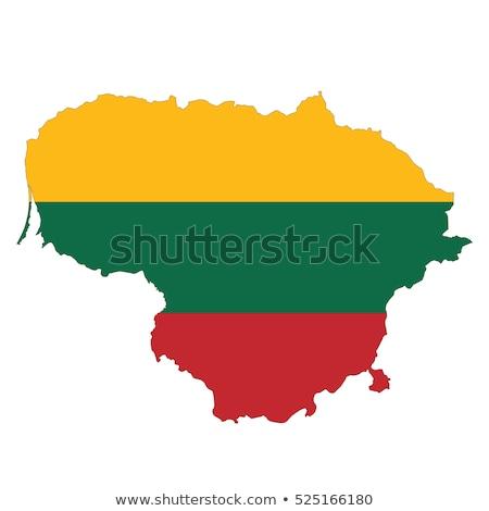 リトアニア フラグ 地図 国 ストックフォト © tony4urban