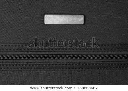 Metaal tag rits zwarte textuur mode Stockfoto © FOKA