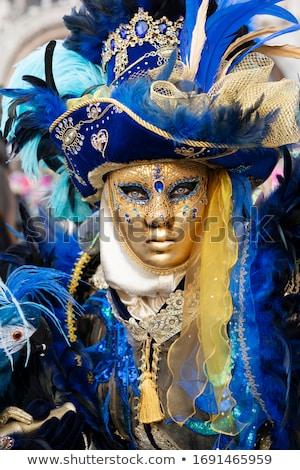 díszes · karnevál · maszk · zene · papír · rózsa - stock fotó © dotshock