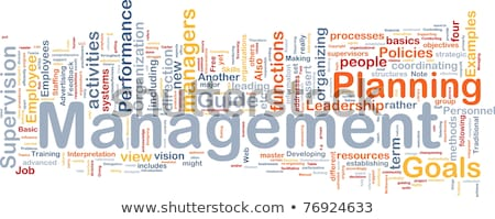 Supervising word cloud Stock photo © tang90246
