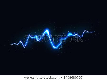 Enerji güç pil mavi sparks dağ Stok fotoğraf © Anterovium